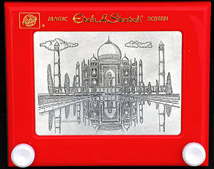 English: The Taj Mahal, complete with ripples ...