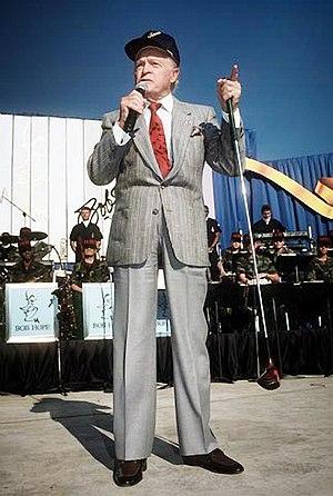Bob Hope and golf club, Lackland Air Force Bas...