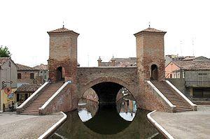 Comacchio, Emilia Romagna, Italia Trepponti