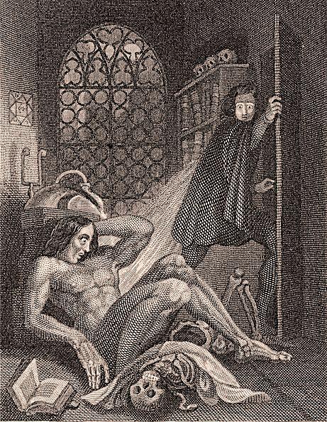 File:Frontispiece to Frankenstein 1831.jpg