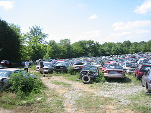 American Automobile Culture A Junkyard in Nash...