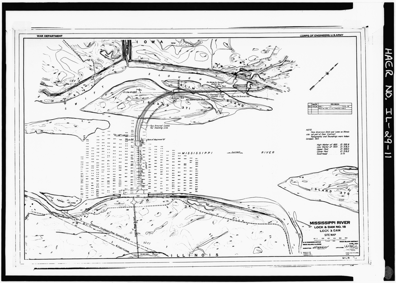File Lock And Dam Site Map June