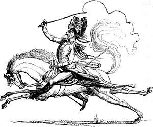 Caricature of Karl Freiherr Mack von Leiberich...
