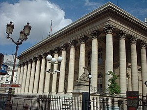 Palais Brongniart à Paris (Bourse de Paris)