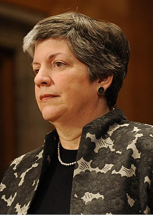 English: Janet Napolitano is sworn in as the t...