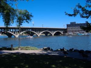 Jefferson Street Bridge in Rockford, Illinois,...