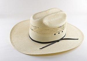 Western straw cowboy hat