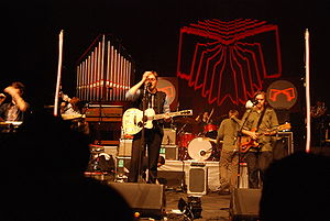 The Arcade Fire performing in support of Neon ...