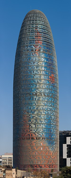 Torre Agbar in Barcelona, Spain. Taken by myse...