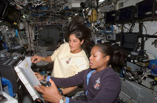File:Astronauts Joan Higginbotham (STS-116) and Sunita ...