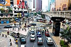 Bukit bintang from kl monorail 2009.jpg