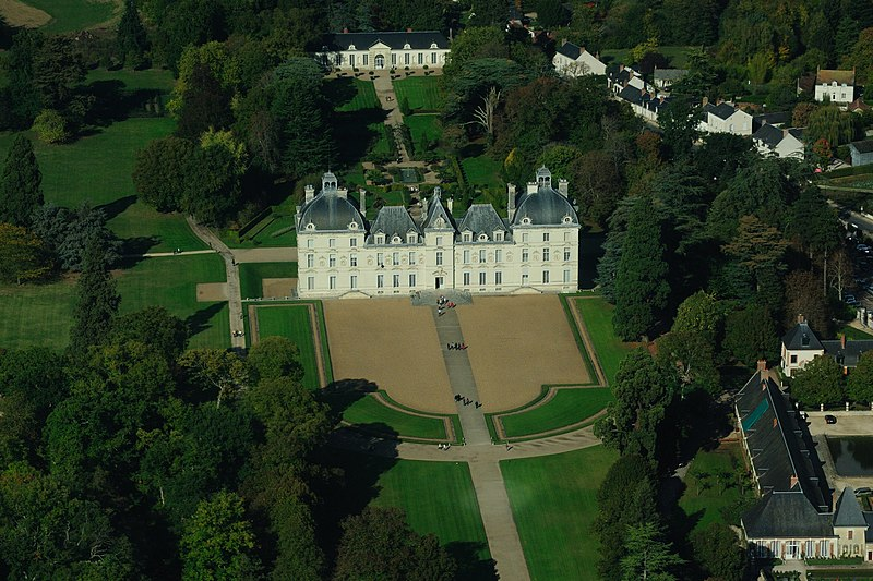 Cheverny castle, aerial view