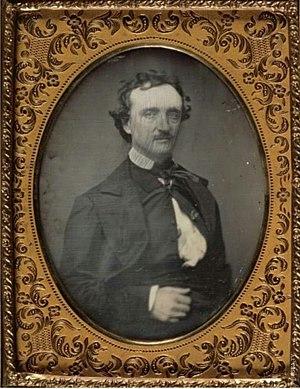 Edgar Allan Poe. Quarter-plate portrait daguer...