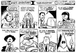 English: Nina's Adventures comic strip about t...