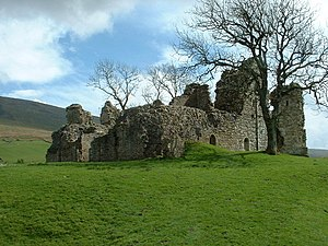 Pendragon Castle, Mallerstang, Cumbria. There ...