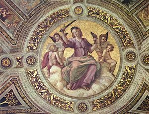 Allegory of Justice, by Raphael. In the Italia...