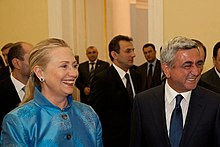 Sargsyan and US State Secretary Clinton in Yerevan, 4 June 2012