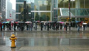 It was a very wet day here in Toronto, and the...