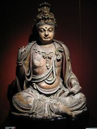 A Chinese wooden Bodhisattva, Jin Dynasty (111...