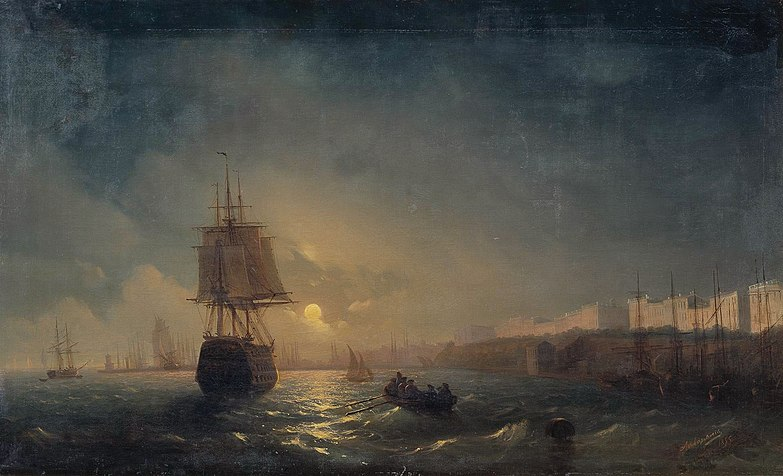 File:Aivasovsky Ivan Constantinovich The Harbor At Odessa On The Black Sea.jpg