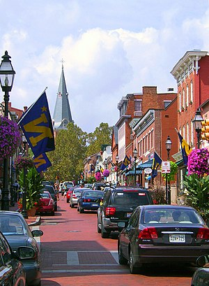 Main Street in downtown Annapolis