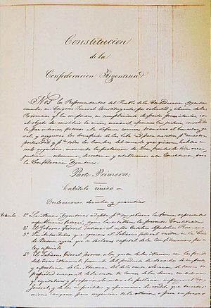 Original manuscript of the 1853 Argentine Nati...