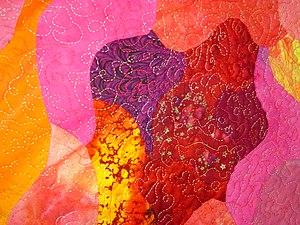 Detail of sun quilt