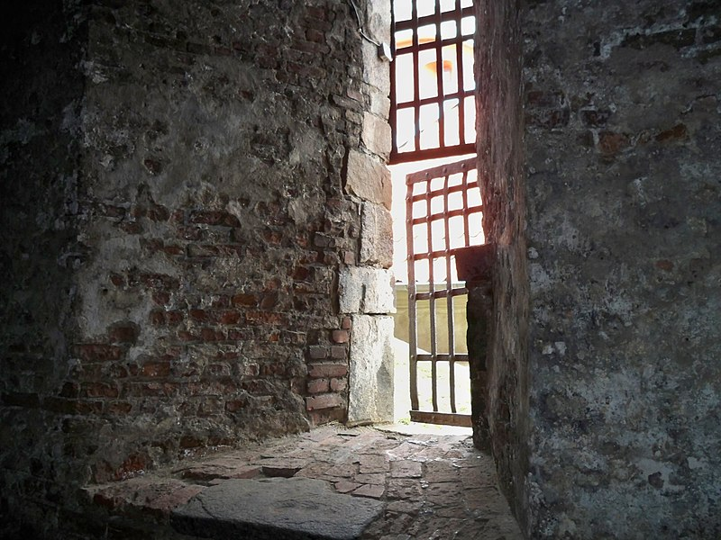 Window in the 18th century dungeon of New Fort of Elfsborgh