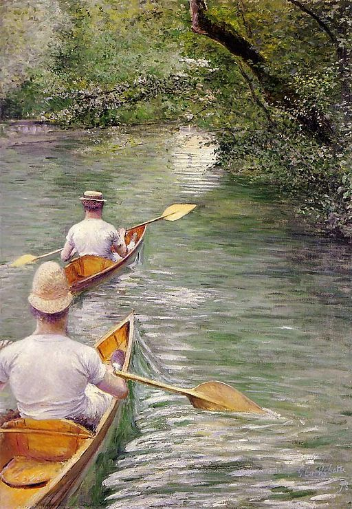"""""""Les Périssoires"""" by Gustave Caillebotte"""