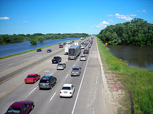 English: Interstate 80 traffic is brought to a...