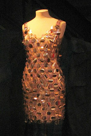 Dress by Paco Rabanne, 1967. Worn by baroness ...