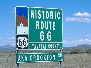 Road signal along Arizona Route 66