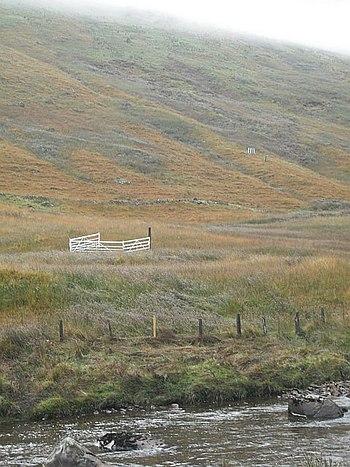 English: Sheepdog trials site, Inverlochlarig ...