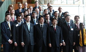 Prime Minister Shinzō Abe, then Chief Cabinet ...