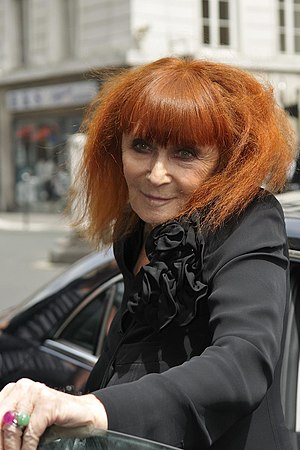 French fashion designers Sonia Rykiel.
