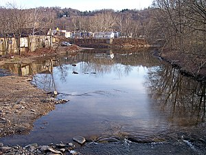 Wheeling Creek as viewed upstream from Junior ...