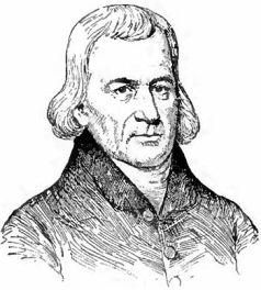 English: Portrait drawing of Francis Asbury, A...