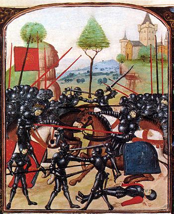English: Illustration of the Battle of Barnet ...