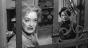 Cropped screenshot of Bette Davis and Joan Cra...