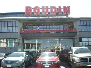 The rear of the Boudin Bakery in Fisherman's W...
