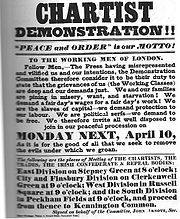 Poster advertising the Great Chartist Meeting.