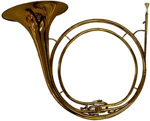 A hunting horn in Eb with a Bb stopping ventil...