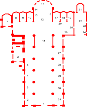 English: Plan of Basilica di Santa Maria Glori...