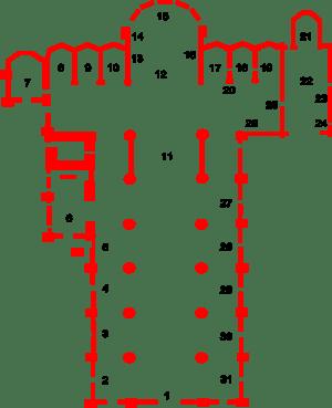 English: Plan of Basilica di Santa Maria Glori...