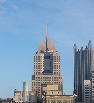 Highmark Place from PNC Park in Pittsburgh, ta...