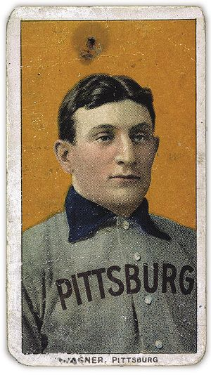 The famous Honus Wagner T206 card, circa 1910.