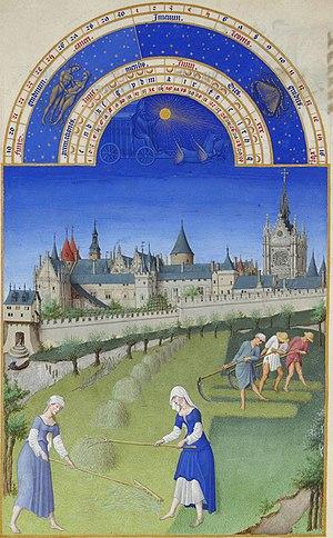 Très riches heures du Duc de Berry: Juin (June...