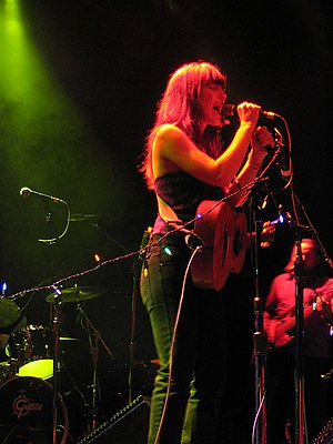Singer-songwriter Leslie Feist performing at T...