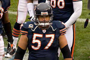 Olin Kreutz of the Chicago Bears