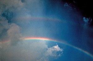 Double rainbow. Note reversal of spectrum.
